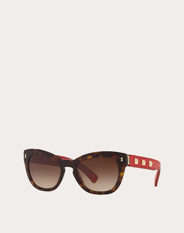 ROCKSTUD CAT-EYE FRAME ACETATE SUNGLASSES