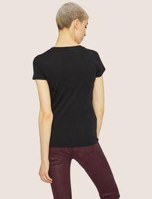 ARMANI EXCHANGE CARTOONARTIGES T-SHIRT MIT RUNDHALSAUSSCHNITT UND PAILLETTEN Logo-T-Shirt Damen e