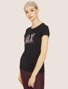 ARMANI EXCHANGE CARTOONARTIGES T-SHIRT MIT RUNDHALSAUSSCHNITT UND PAILLETTEN Logo-T-Shirt Damen f