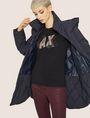 ARMANI EXCHANGE CARTOONARTIGES T-SHIRT MIT RUNDHALSAUSSCHNITT UND PAILLETTEN Logo-T-Shirt Damen a