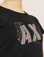 ARMANI EXCHANGE CARTOONARTIGES T-SHIRT MIT RUNDHALSAUSSCHNITT UND PAILLETTEN Logo-T-Shirt Damen b