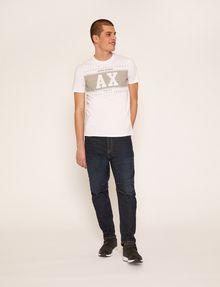 ARMANI EXCHANGE SLIM-FIT VARSITY STARS CREW Logo T-shirt Man d