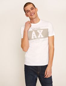 ARMANI EXCHANGE SLIM-FIT VARSITY STARS CREW Logo T-shirt Man f
