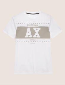 ARMANI EXCHANGE SLIM-FIT VARSITY STARS CREW Logo T-shirt Man r