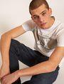 ARMANI EXCHANGE SLIM-FIT VARSITY STARS CREW Logo T-shirt Man a
