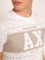 ARMANI EXCHANGE SLIM-FIT VARSITY STARS CREW Logo T-shirt Man b