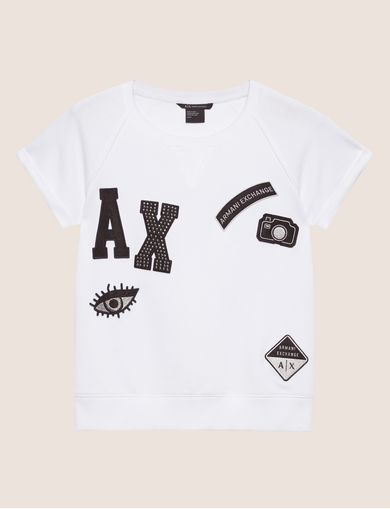 LOGO PATCH RAGLAN SWEATSHIRT