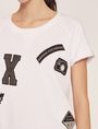 ARMANI EXCHANGE FELPA CON LOGO APPLICATO E MANICHE RAGLAN Top in pile Donna b