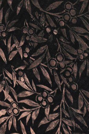 ROBERTO CAVALLI Metallic printed modal and silk-blend scarf