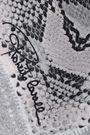ROBERTO CAVALLI Snake-print silk-twill scarf