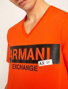 ARMANI EXCHANGE STENCIL V-NECK LOGO TEE Logo T-shirt Man b
