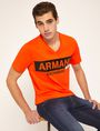 ARMANI EXCHANGE STENCIL V-NECK LOGO TEE Logo T-shirt Man a