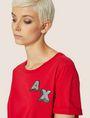 ARMANI EXCHANGE DOT BLOCK LOGO CREW Logo T-shirt [*** pickupInStoreShipping_info ***] b