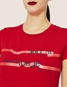 ARMANI EXCHANGE METALLIC HIGHLIGHTER LOGO CREW Logo T-shirt [*** pickupInStoreShipping_info ***] b