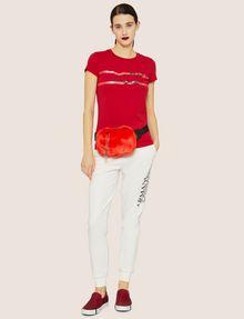 ARMANI EXCHANGE METALLIC HIGHLIGHTER LOGO CREW Logo T-shirt [*** pickupInStoreShipping_info ***] d