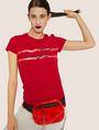 ARMANI EXCHANGE METALLIC HIGHLIGHTER LOGO CREW Logo T-shirt [*** pickupInStoreShipping_info ***] a