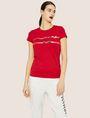 ARMANI EXCHANGE METALLIC HIGHLIGHTER LOGO CREW Logo T-shirt [*** pickupInStoreShipping_info ***] f