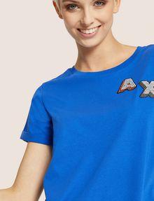 ARMANI EXCHANGE DOT BLOCK LOGO CREW Logo T-shirt [*** pickupInStoreShipping_info ***] a