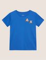 ARMANI EXCHANGE DOT BLOCK LOGO CREW Logo T-shirt [*** pickupInStoreShipping_info ***] r