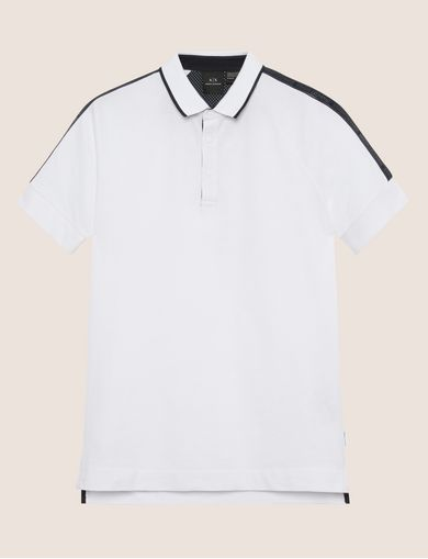 HIGH-SHINE LOGO TAPE POLO