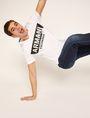 ARMANI EXCHANGE STENCIL V-NECK LOGO TEE Logo T-shirt Man a