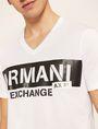 ARMANI EXCHANGE STENCIL V-NECK LOGO TEE Logo T-shirt Man b