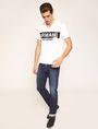 ARMANI EXCHANGE STENCIL V-NECK LOGO TEE Logo T-shirt Man d