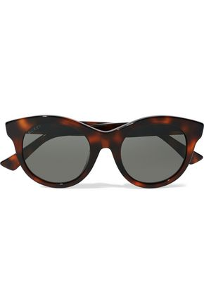 GUCCI Cat-eye tortoiseshell acetate sunglasses