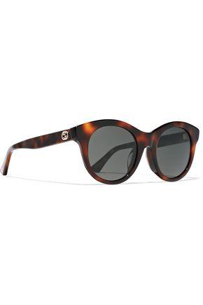 GUCCI Cat-eye tortoiseshell acetate sunglasses