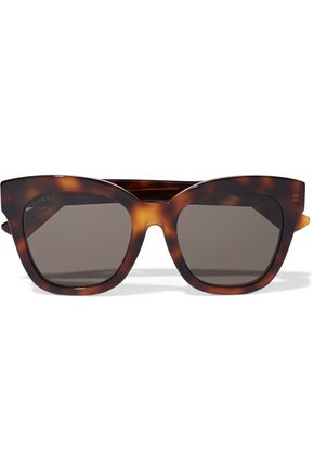 Square Frame Tortoiseshell Acetate Sunglasses by Gucci