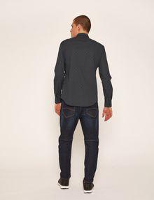 ARMANI EXCHANGE SLIM-FIT LOGO MICRODOT STRETCH SHIRT Printed Shirt Man e