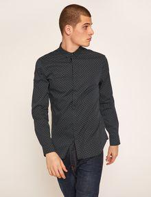 ARMANI EXCHANGE SLIM-FIT LOGO MICRODOT STRETCH SHIRT Printed Shirt Man f