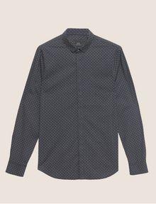 ARMANI EXCHANGE SLIM-FIT LOGO MICRODOT STRETCH SHIRT Printed Shirt Man r