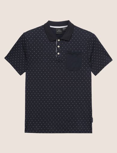 MICRO-LOGO CONTRAST POCKET POLO