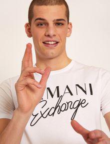 ARMANI EXCHANGE SLIM-FIT EMBROIDERED SCRIPT CREW Logo T-shirt Man a