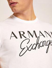 ARMANI EXCHANGE SLIM-FIT EMBROIDERED SCRIPT CREW Logo T-shirt Man b