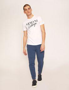 ARMANI EXCHANGE SLIM-FIT EMBROIDERED SCRIPT CREW Logo T-shirt Man d