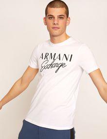 ARMANI EXCHANGE SLIM-FIT EMBROIDERED SCRIPT CREW Logo T-shirt Man f