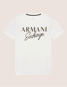 ARMANI EXCHANGE SCHMAL GESCHNITTENER RUNDHALSPULLOVER MIT AUFGESTICKTEM SCHRIFTZUG Logo-T-Shirt [*** pickupInStoreShippingNotGuaranteed_info ***] r