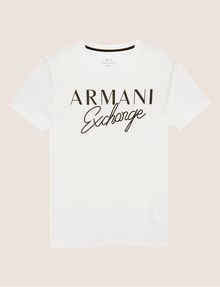ARMANI EXCHANGE SLIM-FIT EMBROIDERED SCRIPT CREW Logo T-shirt Man r
