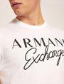 ARMANI EXCHANGE SCHMAL GESCHNITTENER RUNDHALSPULLOVER MIT AUFGESTICKTEM SCHRIFTZUG Logo-T-Shirt [*** pickupInStoreShippingNotGuaranteed_info ***] b