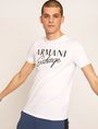 ARMANI EXCHANGE SCHMAL GESCHNITTENER RUNDHALSPULLOVER MIT AUFGESTICKTEM SCHRIFTZUG Logo-T-Shirt [*** pickupInStoreShippingNotGuaranteed_info ***] f