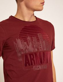 ARMANI EXCHANGE REGULAR-FIT CITYSCAPE SUNSET CREW Logo T-shirt [*** pickupInStoreShippingNotGuaranteed_info ***] b