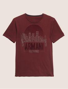 ARMANI EXCHANGE REGULAR-FIT CITYSCAPE SUNSET CREW Logo T-shirt [*** pickupInStoreShippingNotGuaranteed_info ***] r