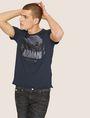 ARMANI EXCHANGE T-SHIRT GIROCOLLO REGULAR FIT CON STAMPA DI PAESAGGIO URBANO AL TRAMONTO T-shirt con logo Uomo a