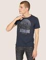 ARMANI EXCHANGE T-SHIRT GIROCOLLO REGULAR FIT CON STAMPA DI PAESAGGIO URBANO AL TRAMONTO T-shirt con logo Uomo f
