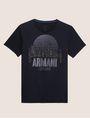 ARMANI EXCHANGE T-SHIRT GIROCOLLO REGULAR FIT CON STAMPA DI PAESAGGIO URBANO AL TRAMONTO T-shirt con logo Uomo r