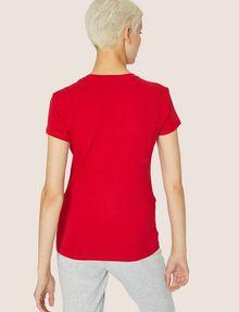 ARMANI EXCHANGE STUDDED POSITIVE-NEGATIVE LOGO TEE Logo T-shirt Woman e