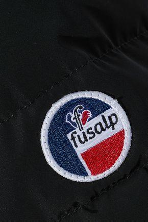 FUSALP Shell-paneled wool-blend hooded down jacket