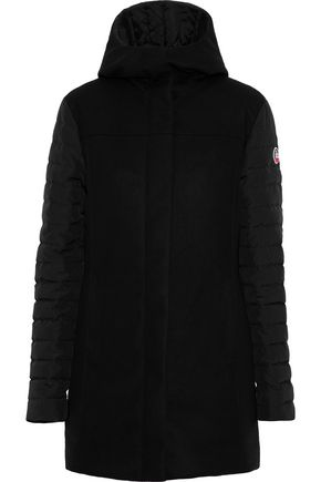 FUSALP Shell-paneled wool-blend hooded down jacket